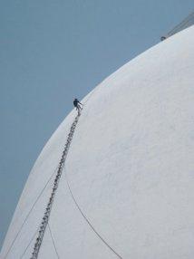 Stupa repairs. Anarudhapura